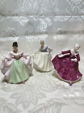 Royal Doulton: Fair Lady,Kirsty,and Sara, Mini Figurine by Peggy Davis,Set Of 3