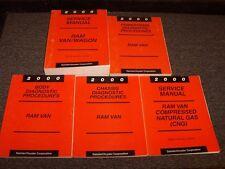 2000 Dodge Ram Van Wagon 1500 2500 3500 Shop Service Repair Manual Book Set