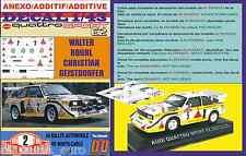 ANEXO DECAL 1/43 AUDI QUATTRO SPORT E2 W.ROHRL R.MONTECARLO 1986 (01)