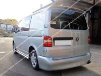VW T5 TRANSPORTER BARN DOORS REAR SPOILER