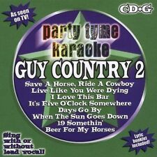 Party Tyme Karaoke: Guy Country, Vol. 2 by Sybersound CD, 2005 Tim McGraw, Toby