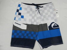 "Quiksilver Bank On It 21"" White Boardshorts Shorts Sz 32 Surf Men New"