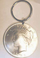 Silver Peace dollar key ring-antique coin