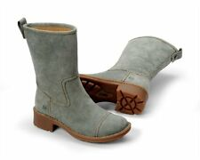 Born Audie Sage Green Suede Boots 37 6.5