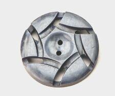 Antique Vintage 1930s Feature Button Blue Bakelite Round Shaped 34mm Diameter
