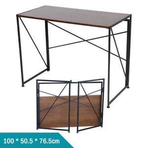 Foldable Student Computer Desk Portable Classroom Home Office Caravan Wood