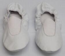 Leos Dancewear White Leather Dance Ballet Slippers Child Toddler Size 12M