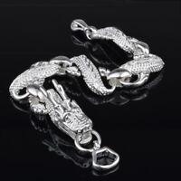 925 Silver Women Bangle Dragon Bracelet Chain For Men Jewelry Gifts