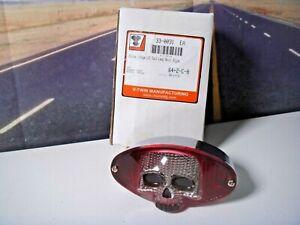 Harley Indian LED Lamp Tail Brake Light Chrome Skull Cat Eye V-Twin 33-0031  Y1
