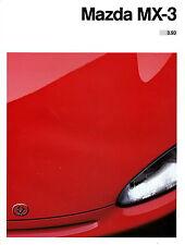 Prospekt Mazda MX-3 3 93 1993 brochure Auto Pkw Coupe Personenwagen Japan