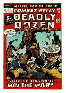 1972 Combat Kelly #1 VF 8.0 or better - Bronze Age Marvel - Sharp Copy!