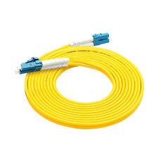 10Pcs 3 M LC-LC Duplex 9/125 Singlemode Fiber Optic Cable Patch Cord Wholesale