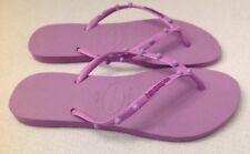HAVAIANAS NWOB Slim Purple Lilac Studded Flip Flops BRA 41-42 US 11-12 Sandal
