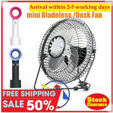 3 Speeds Rechargeable USB Mini Cooling Fan Desk Table Portable Bladelesss Fan US
