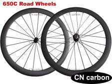 1460g 650C 50mm Tubeless Clincher Carbon Bicycle Wheels R13 Hub +Cn 424 Spokes