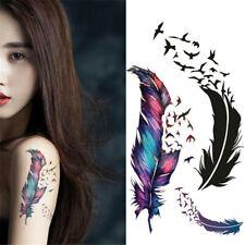 1pcs 3D Punk Temporary Waterproof Magic Feather Body Art Charm Tattoo Stickers