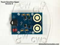 Touch Sensitive Morse Paddle for Iambic keyers with paddle orientation adjust