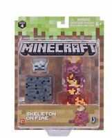 "Minecraft 3"" Figure - Skeleton on Fire"