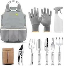 Pegzos 10 Piece Garden Tools Set Gardening Tools with Garden Gloves, Gardener