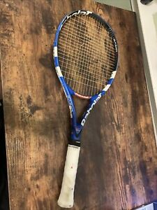 Babolat Pure Drive + tennis racquet 4 3/8 grip - Couple Broken strings