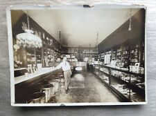OLD Cabinet Photo Drug Store Soda Fountain Interior Merchandise Brownsville PA