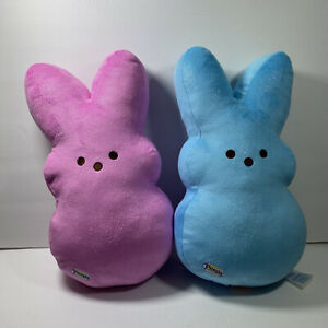 Build a Bear Special Edition 2 Sparkling Pink And Blue PEEPS Bunnies
