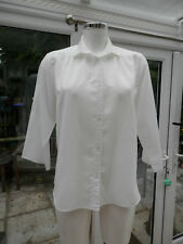 LADIES SHIRT BY CANDA C&A SIZE 14 PLAIN DESIGN ROLL UP LONG SLEEVES IN WHITE