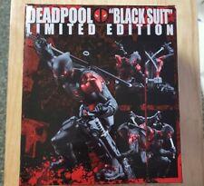 DEADPOOL Black Suit Marvel Exclusive Authentic Ktobukiya ARTFX+ Statue - NEW