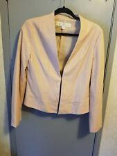 Boston Proper Faux leather  blush jacket size medium 8/10