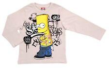 Die Simpsons Langarmshirt ''SKILLS'' in hellbeige für Jungen Gr. 98-104-116-128