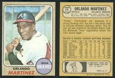 (43579) 1968 Topps 578 Orlando Martinez Braves-EM