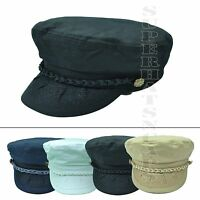 Classic 100%Cotton Greek Fisherman Hat Sailor Army Military Cadet Driver Hat Cap