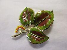 vintage elm? leaf  brooch signed exquisite