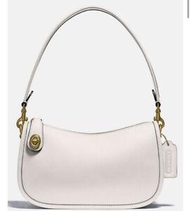 ❤️Coach Swinger Chalk/Brass C0638 Leather Shoulder Bag
