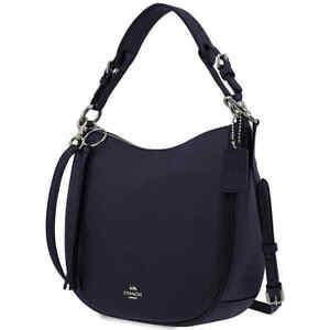 Coach Ladies Leather Sutton Hobo Bag-Midnight 35593 SVBHP