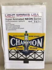 MILLER ENGINEERING KIT #5071 SUPER ANIMATED NEON CHAMPION SPARK PLUGS SIGN NIB