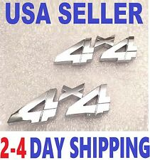 2 Chrome 4 X 4 EMBLEM 4X4 car INTERNATIONAL HARVESTER TRUCK logo DECAL badge tw.