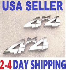 2 Chrome 4 X 4 EMBLEM 4X4 car HARVESTER TRUCK logo DECAL INTERNATIONAL badge 3D