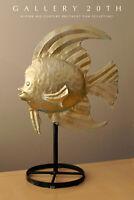 HUGE &EPIC! MID CENTURY MODERN BRUTALIST FISH SCULPTURE! VTG 50S 60s FINE ART