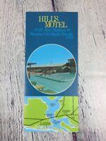 Vtg Travel Brochure Hill's Motel Panama City Beach Florida Paper / 1970's Circa