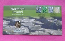 2001 ROYAL MINT NORTHERN IRELAND CELTIC CROSS  ONE POUND COIN £1 FDC / PNC