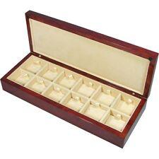 Laminated Makah Burlwood Veneer 12 Cufflink Storage Box by Hillwood