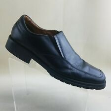 Borelli Mens Broadway Loafers Black Leather Casual Slip On Shoes Size 12M #H52