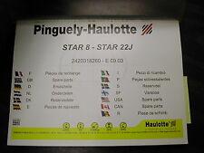 Pinguely-Haulotte Star 8-22J Lift Parts Manual Book Catalog Rotary Mast List