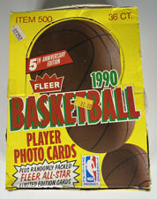 1990-91 FLEER BASKETBALL WAX BOX - 36 PACKS - NBA Michael Jordan  - PSA 10?