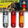 3 LED Front Side Marker Indicator Light Trailer Truck Bus Lorry Van Boat 12/24V
