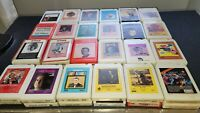 8 Track Tapes Various Artists Genres Lot of 52