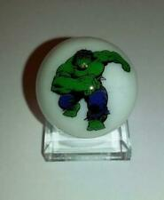 """Super Nice The Incredible Hulk Glass 1"""" Logo Marble With Stand"""