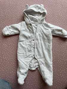 Little White Company pramsuit 0-3 Months
