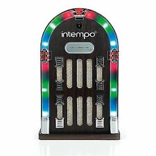 Intempo Mini Bluetooth Jukebox Speaker With LED Flashing Lights Mp3 Music Box UK